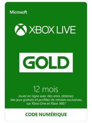Abonnement Xbox Live Gold 12 mois [Code Digital - Xbox Live]