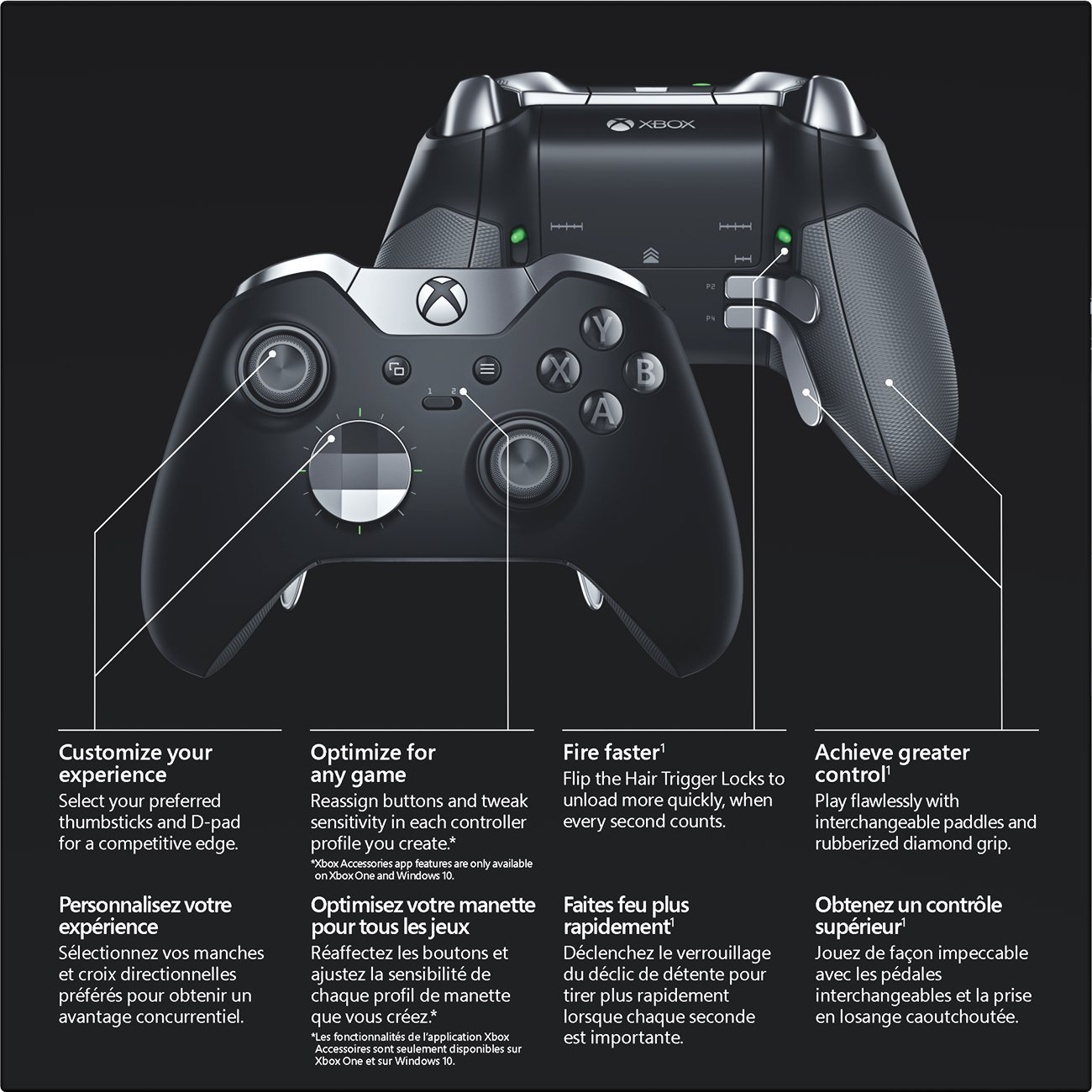 Accessoires xbox application for Manette xbox one elite black friday