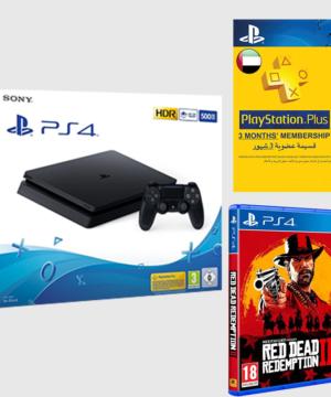 Pack PS4 500GB Slim + Red Dead Redemption 2 + Abonnement 3 Mois Psn