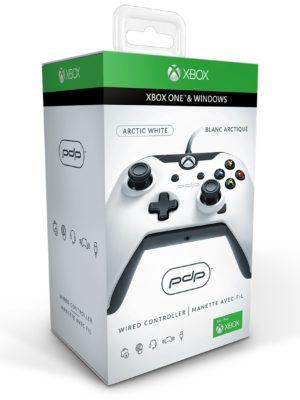 PDP Manette Filaire Pour Xbox One et Windows - (Blanc brillant)