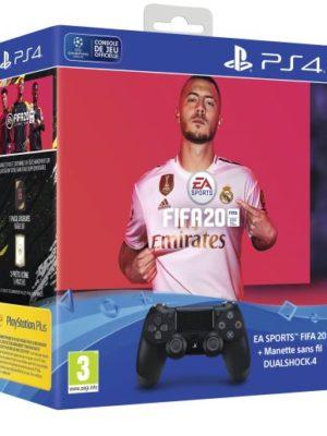 Manette-PS4-Sony-DualShock-4-Noire-FIFA-20-1-pack-FUT-20-PS-Plus-14-jours