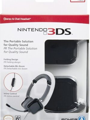 Micro-casque stéréo pour Nintendo 3DS - noir